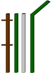изготовление металлические столбы в Липецке